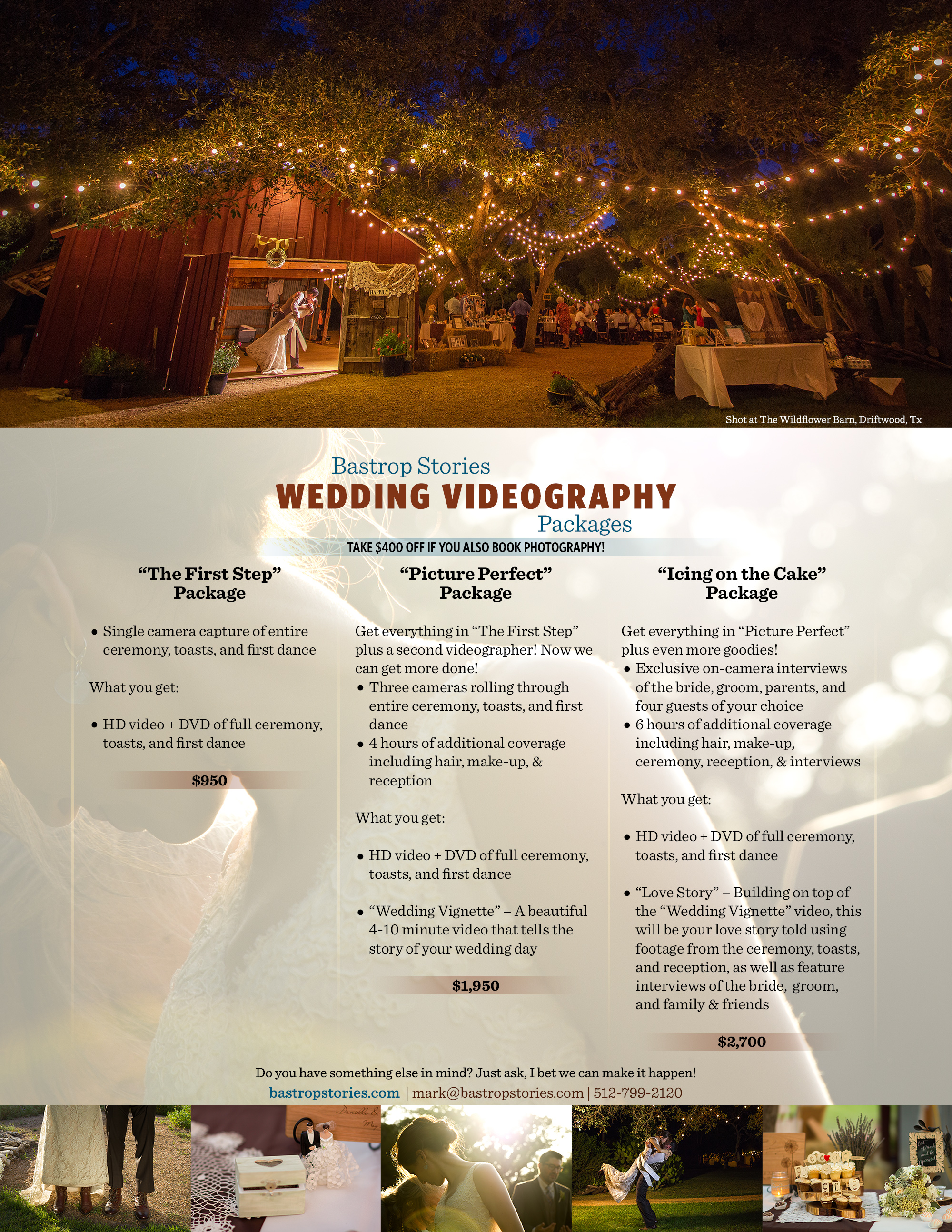 Wedding Videography Rate Card